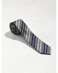 John Varvatos - Black Contrast Stripe Skinny Tie for Men - Lyst