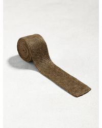 John Varvatos - Brown Classic Knit Tie for Men - Lyst