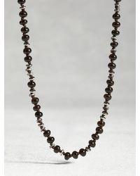 John Varvatos | Black Topaz Knot Necklace for Men | Lyst