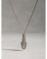 John Varvatos | Metallic Sterling Silver Snake Pendant for Men | Lyst