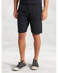 John Varvatos - Black Linen Short for Men - Lyst