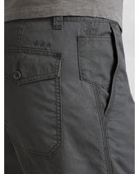 John Varvatos - Gray Cotton Short for Men - Lyst