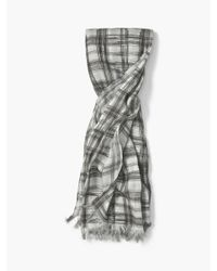 John Varvatos | Blue Abstract Plaid Scarf for Men | Lyst