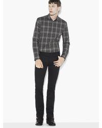 John Varvatos | Gray Cotton Rolled Sleeve Shirt for Men | Lyst