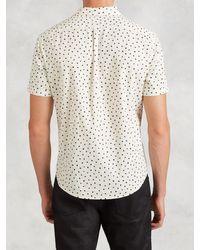 John Varvatos - Black Abstract Polka Dot Short Sleeve Shirt for Men - Lyst