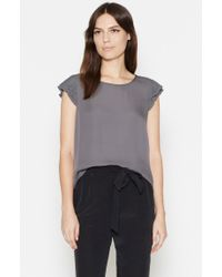 Joie | Gray Nesrin Silk Top | Lyst
