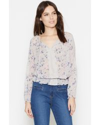 Joie | Multicolor Grazia Silk Blouse | Lyst