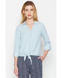 Joie | Blue Crysta Chambray Top | Lyst