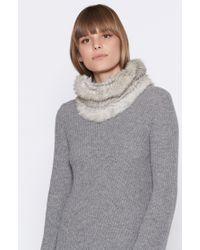Joie - Gray Lonica Fur Scarf - Lyst