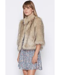 Joie   Natural Mansi Faux Fur Jacket   Lyst