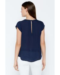 Joie - Blue Rancher Silk Top - Lyst