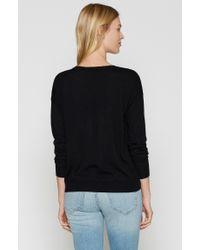 Joie - Black Audrea Patch Sweater - Lyst