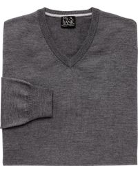 Jos. A. Bank - Multicolor Traveler Collection Merino Wool V-neck Sweater - Big & Tall for Men - Lyst