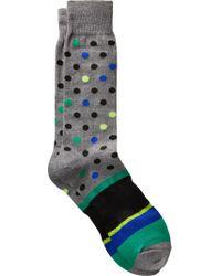 Jos. A. Bank - Gray Polka Dot Dress Socks, One-pair for Men - Lyst