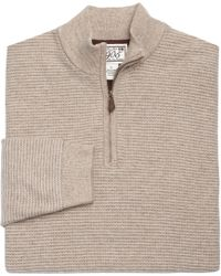 Jos. A. Bank - Blue 1905 Collection Lambswool Stripe Quarter-zip Sweater for Men - Lyst