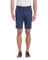Jos. A. Bank - Blue 1905 Collection Tailored Fit Flat Front Twill Shorts - Big & Tall for Men - Lyst