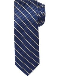 Jos. A. Bank - Blue Signature Gold Ribbed Stripe Tie for Men - Lyst