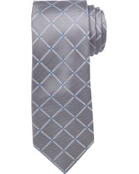 Jos. A. Bank - Gray Executive Collection Large Grid Tie for Men - Lyst