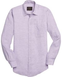 Jos. A. Bank - Purple Reserve Collection Traditional Fit Spread Collar Sportshirt - Big & Tall for Men - Lyst