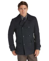 Jos. A. Bank - Blue 1905 Collection Traditional Fit Double-breasted Herringbone Peacoat Clearance for Men - Lyst