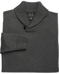 Jos. A. Bank - Gray Executive Collection Cotton Shawl Collar Sweater Clearance for Men - Lyst