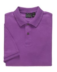 Jos. A. Bank - Pink Traveler Short Sleeve Tailored Fit Interlock Polo for Men - Lyst