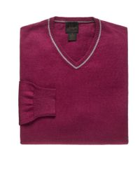 Jos. A. Bank - Purple Joseph Cotton Cashmere V-neck Sweater Clearance for Men - Lyst