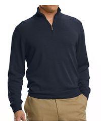Jos. A. Bank - Gray Signature Merino Wool Half-zip Sweater Big/tall Clearance for Men - Lyst