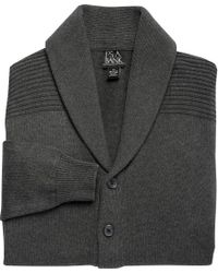 Jos. A. Bank - Gray Xecutive Collection Cotton Cardigan Men's Sweater for Men - Lyst