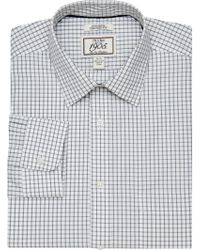 Jos. A. Bank - Gray 1905 Collection Tailored Fit Spread Collar Tattersall Dress Shirt - Big & Tall for Men - Lyst