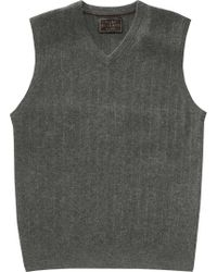 Jos. A. Bank Gray Reserve Collection Cashmere V-neck Sweater Vest for men