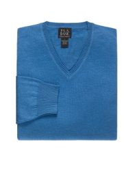 Jos. A. Bank - Blue Signature V-neck Pima Cotton Sweater Big And Tall for Men - Lyst