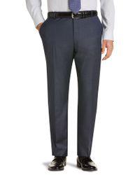 Jos. A. Bank - Blue Traveler Collection Regal Fit Flat Front Sharkskin Suit Separate Pants for Men - Lyst