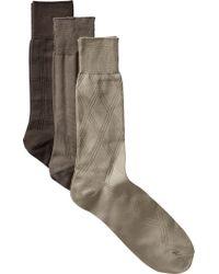 Jos. A. Bank - Natural Microfiber Dress Socks, 3-pack for Men - Lyst