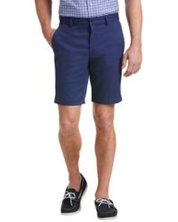 Jos. A. Bank - Blue Traveler Collection Tailored Fit Flat Front Twill Shorts for Men - Lyst