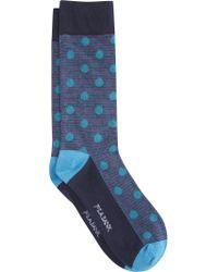 Jos. A. Bank - Blue Patterned Dress Socks for Men - Lyst
