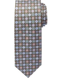 Jos. A. Bank Green Signature Gold Collection Flowers & Squares Tie Clearance for men