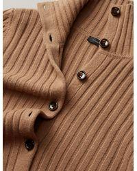 Joseph - Natural Rib Soft Wool Knit Cardigan - Lyst