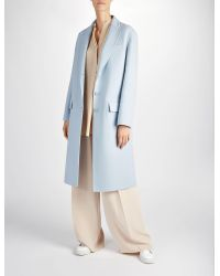 JOSEPH - Blue Double Face Wool Simo Coat - Lyst