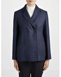 Joseph - Blue Linen Suiting Brest Jacket - Lyst