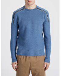 JOSEPH - Blue Boiled Knit Sweater for Men - Lyst
