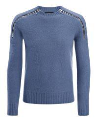 JOSEPH | Blue Boiled Knit Sweater for Men | Lyst