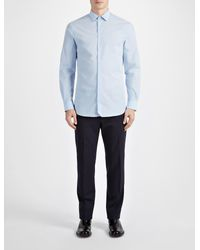 JOSEPH - Blue Parachute Poplin John Shirt for Men - Lyst