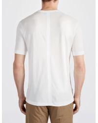JOSEPH - White Lyocell Jersey V Neck Tee for Men - Lyst
