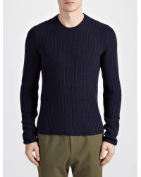 JOSEPH - Blue Military Cashmere Sweater for Men - Lyst