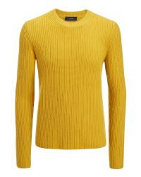 JOSEPH | Yellow Military Cashmere Sweater for Men | Lyst