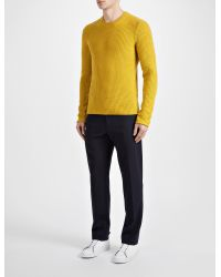 JOSEPH - Yellow Military Cashmere Sweater for Men - Lyst