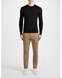 JOSEPH | Black Light Merinos Sweater for Men | Lyst