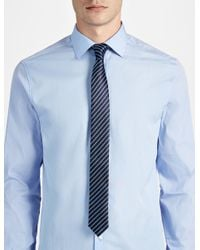 JOSEPH | Blue Stripe Tie for Men | Lyst