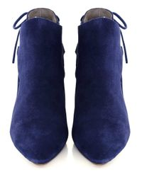 H by Hudson | Blue Minka Suede Tie Back Heels | Lyst
